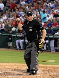 Good thing I imagined this Ump, or I might have tackled him!