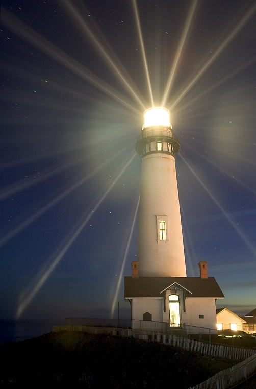 Lighthouse Shining Gods Light