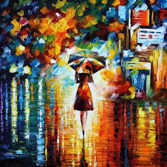 Rain Princess by By Leonid Afremov (Etsy.com)