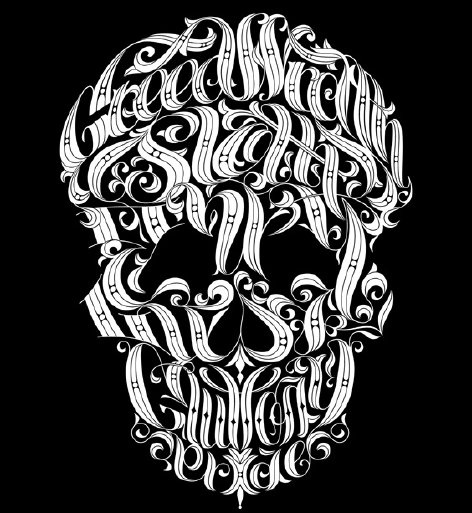 """Okay, there is some camouflaging in this """"Deadly Sins"""" t-shirt.  Can you find seven sins hidden in the skull? (supermarkethq.com)"""
