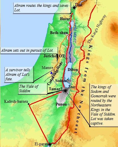 bible map abraham and lot relationship